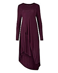Damson Asymmetric Wrap Detail Tunic