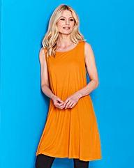 Orange - Sleeveless Swing Tunic