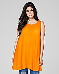 Orange Sleeveless Swing Tunic