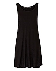 Black Sleeveless Swing Tunic