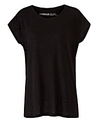 Black Viscose Boyfriend T-shirt
