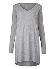 Grey Dip Top