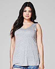 Grey Marl - V-neck Jersey Vest