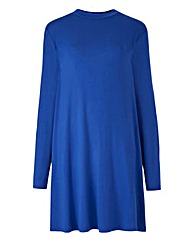 Blue Turtleneck Swing Tunic