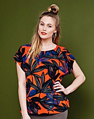 Simply Be Floral Print Woven Top