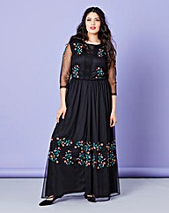 Simply Be Embroidered Maxi Dress