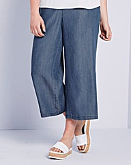 Simply Be Tencel Wide Leg Crop Trousers