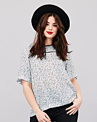 Simply Be Ditsy Print Woven Top