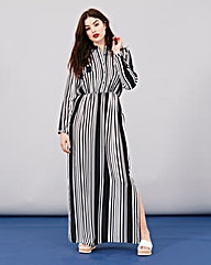 Simply Be Stripe Maxi Shirt Dress