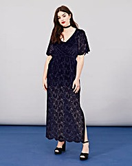 Simply Be Lace Wrap Maxi Dress