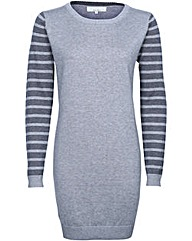 Brakeburn Stripe Tunic Dress Grey