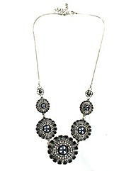 Vintage Style Disc Necklace