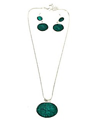 Enamel Jewellery Set