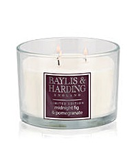 Midnight Pomegranate & Fig 3Wick Candle