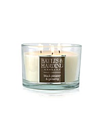 Black Pepper & Ginseng 3Wick Candle