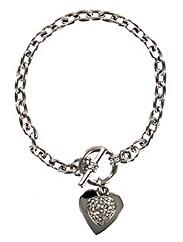 Heart T Bar Bracelet