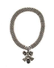 Popcorn chain bee charm bracelet