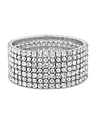 Jon Richard Wide Diamante Bead Bracelet