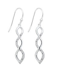 Simply Silver Interwoven Drop Earring