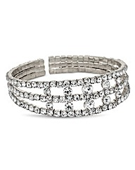 Jon Richard Diamante Triple Row Bracelet