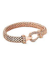 Jon Richard Rose Gold Mesh Bracelet