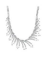 Jon Richard Diamante Curved Necklace