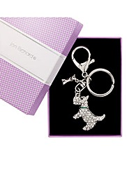 Jon Richard Crystal Scotty Dog Keyring
