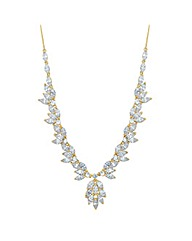 Jon Richard Cubic Zirconia Leaf Necklace