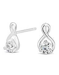 Simply Silver Cubic Zirconia Earring