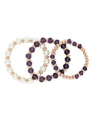 Jon Richard Beaded Stretch Bracelet Set
