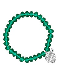 Jon Richard Bead Heart Charm Bracelet