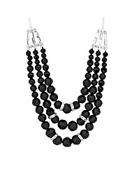 Jon Richard Beaded Triple Row Necklace