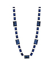 Jon Richard Blue Stone Link Necklace