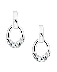 Simply Silver Door Knocker Earring