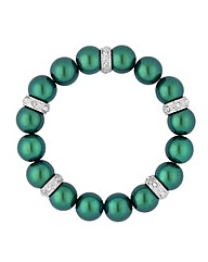 Jon Richard Green Pearl Crystal Bracelet