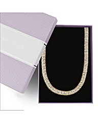 Jon Richard Two Row Diamante Necklace