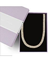 Jon Richard Two Row Diamante Necklace