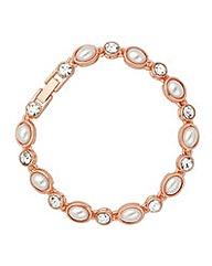 Jon Richard Rose Gold Tennis Bracelet
