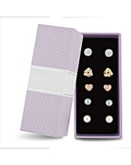Jon Richard Pave And Pearl Earring Set