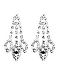 Jon Richard Jet Diamante Navette Earring