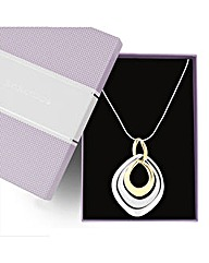 Jon Richard Two Tone Ring Necklace