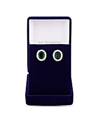 Jon Richard Oval Cubic Zirconia Earring