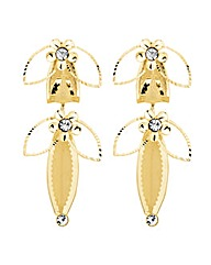 Jon Richard Mesh Gold Flower Earring