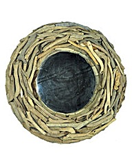 Natural Driftwood Mirror Round