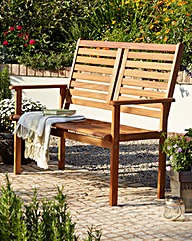 Napoli Wooden Two Seater Bench