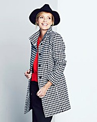 Dogtooth Funnel Neck Coat
