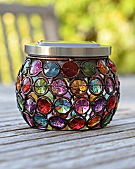 Solar Powered Multi-Glow Gem Jar