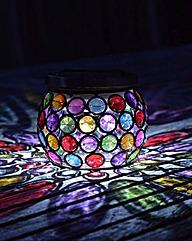 Multi-Glow Gem Jar Solar Powered