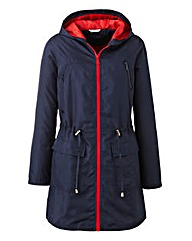 Contrast Colour Lightweight Parka