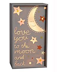 Love You To The Moon Night Light Box